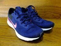 Nike Odyssey React Flyknit Blue Running Shoes Trainers  Size UK 7 EU 41