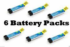 E-flite 45C 150mAh 1S 3.7V LiPo 6 Pcs Battery BLADE MSRX PARKZONE NAO CPX