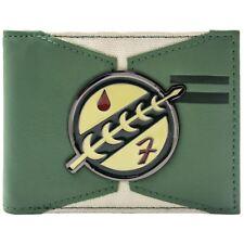 NEW OFFICIAL STAR WARS BOBA FETT MANDALORIAN TATTOO GREEN ID CARD BI-FOLD WALLET