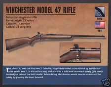 WINCHESTER MODEL 47 RIFLE Bolt-Action Gun Atlas Classic Firearms PHOTO CARD
