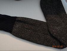 Navy top boot socks with dark gray/black leg Size 15-16