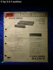Sony Service Manual RM X2001 / X2001VF CD Changer Commander (#1072)