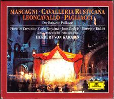 Mascagni Cavalleria rusticana Leoncavallo pagliacci Carlo Bergonzi Karajan 3cd