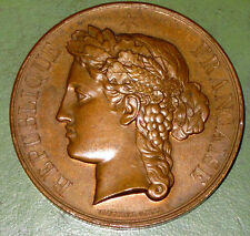 1896 Republic of France Bronze Medal for Lycée Janson de Sailly - Vauthier Galle