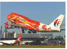 Malaysian Airlines Boeing 747-4H6 Postcard