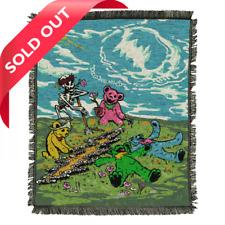 "Grateful Dead Garden Friends Tapestry Blanket ~ 50"" x 60"" ~Ltd Ed ~ Brand New!!!"
