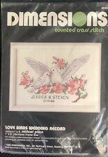 Dimensiones-Cross Stitch Kit-Boda Record-felices para siempre-D65045