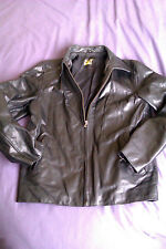 CAT MEN'S GENUINE LEATHER JACKET QUALITY THICK LEATHER JACKET
