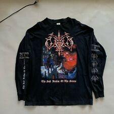 odium the sad realm of the stars long sleeve t shirt vintage 1998 black metal