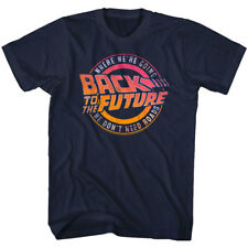 Back to the Future Where We're Going We Don't Need Roads Mens T Shirt Slogan Top