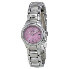Citizen Eco-Drive EW1170-51X Women's Dress Pink Motif Dial 25mm Date Watch