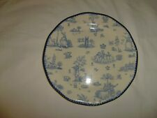 WOOD & SONS 10 3/4 Inch Toille de jouy Blue Cookie Plate