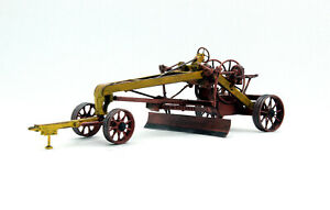 Exclusive! DZ-6 trailer grader with traces of operation 1950-1970 handmade 1:43