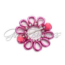 1 Pair Hot Pink Flower Nipple Shields Rings Jewelry 14g Piercing Bars Barbells