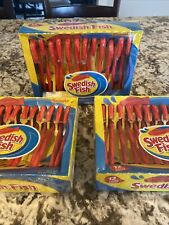 Swedish Fish Spangler Candy Canes Lot of 3 (12 Count 5.3 Ounces)