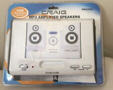 NEW CRAIG MP3 Amplified Speakers 10W Travel Size CMA3002 in original packaging