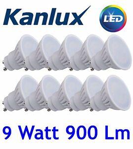 10x Kanlux TEDI GU10 Light Bulb Lamp LED High Lumen 9W Daylight White 6000K
