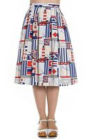 Hell Bunny Lighthouse Boat Skirt Nautical Vintage Retro Rockabilly 40s 50s Swing