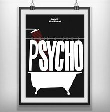psycho Minimalist Minimal Film Movie Poster Print