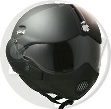 OPEN FACE SCOOTER HELMET OSBE GPA AIRCRAFT TORNADO MATT BLACK XXL 63cm+ & MASK