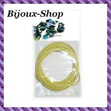 4m de fil câblé pour création de collier saisonnier  épaisseur 2.2 mm -Vert Anis