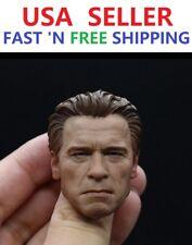 1/6 Arnold Schwarzenegger Head Sculpt OLD Terminator T800 for 12'' Male Figure