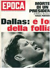 EPOCA N. 853 29 GENNAIO 1967 JOHN KENNEDY ARTURO TOSCANINI FESTIVAL DI SANREMO