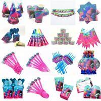 Disney Princess Poppy Trolls Birthday Party Bag Balloon Tableware Decoration UK