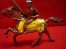 Vintage Barclay 1930s Lead American Indian with Rifle & on Horseback