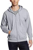 Hanes Men's Full-Zip Hoodie Hooded Sweatshirt Eco Smart Size Medium Gray