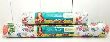 """2 sizes Pioneer Woman Blooming Bouquet Non Adhesive Shelf Liners 12"""" & 20"""""""