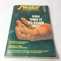 Success Unlimited October 1973 Magazine You Owe It To Your Self  W Clement Stone