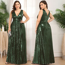 Ever-Pretty Sequin V-Neck Long Evening Prom Dress Celebrity Cocktail BallGown US