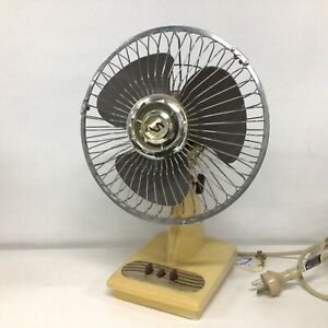 Vintage Emerson Seabreeze Fan S/ 9/ MG Yellow Working #413