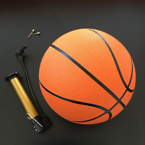 BASKETBALL FULL SIZE 7 INDOOR OUTDOOR GAME JUNIOR KIDS ADULT BOYS + PUMP KIT UK