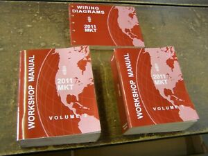 OEM Ford 2011 Lincoln MKT Shop Manuals Books + Wiring Diagram nos