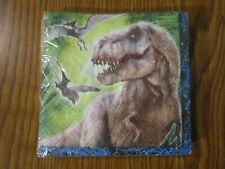 JURASSIC WORLD BEVERAGE NAPKINS 16 CT PARTY UNIVERSAL 2-PLY COCKTAIL NEW PARK