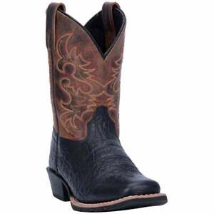 Dan Post Boots  River   Kids Boys  Western Cowboy Boots   Mid Calf  - Black -