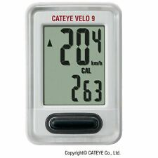Cateye Velo 9 Function Wired Cycle Computer White New In Box