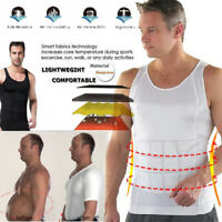 Men's Ultra Lift Body Slimming Seamless Body Shaper Vest Abdomen T-Shirt Cami