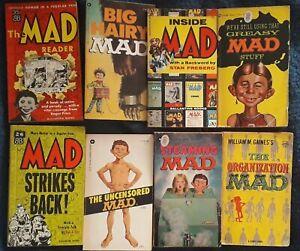 Mad Magazine Paperback books x 8