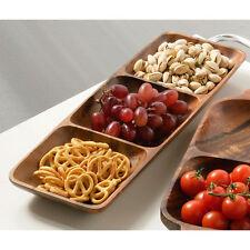 Premier Housewares 3-section Rectangle Serving Dish - Acacia Wood