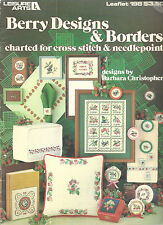 Berry Designs Borders Counted Cross Stitch Leisure Arts 198 Pattern Book 1981