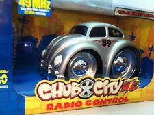 Jada Toys Chub City RC Volkswagen Beetle Silver 49 MHz New