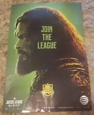 Dc Comics Justice League 13.5 x 20 Movie Poster Aquaman All In At&t promo