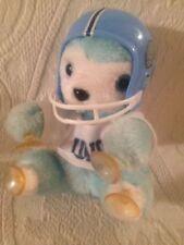 UNC Tarheels Vintage Plush Bear Wearing Football Helmet Window Cling Suction Cup