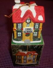 1995 Badcock Collectible Village Bell Ornament School