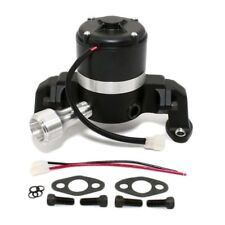 Electric Water Pump High Volume Small Block Chevy 350 Powder Coated Black