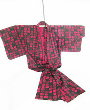 KIMONO  Japon Asie XXe rouge et noir