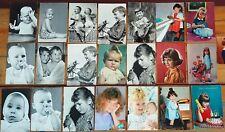 LOTTO STOCK 22 VECCHIE CARTOLINE RAFFIGURANTE BAMBINI POSTCARD WHITH CHILDREN